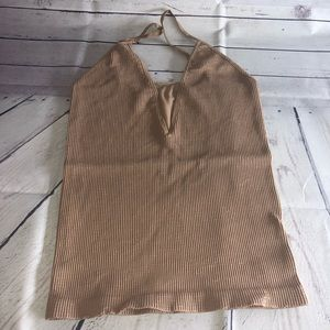 Free People Intimately Latte Come Around Cami M/L